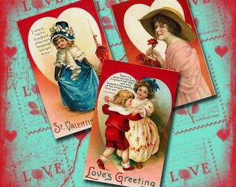 Vintage Valentine Collage Sheet 2