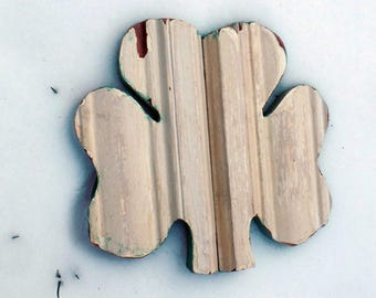 Wood Shamrock, Irish Decor, Reclaimed Wood Decor, Wood Wall Shamrock, Celtic Decor, Nursery Decor, Distressed Shamrock, Irish Wall art