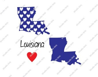 Louisiana, Baton Rouge, State, USA, Red, White, Blue, LSU Tigers, New Orleans, Vector, SVG, Silhouette, Cameo, Commercial Use, Personal Use