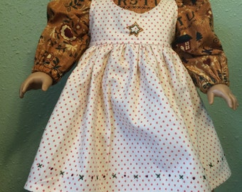 18 inch Doll Clothes Pioneer Dress and Pinafore Set