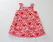 Valentine's Day Girls' Dress for Newborn, Baby, Toddler or Girls'- Valentine's Day Holiday Frock - Sizes Newborn to Girls' 4T