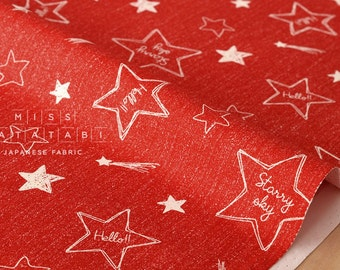 Japanese Fabric Lecien starry sky - red - 50cm