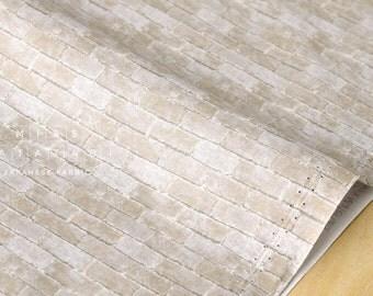 Japanese Fabric tiny brick wall - fat quarter