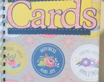 Greeting Card Organizer and Perpetual Calendar with Pockets Birthday Calendar
