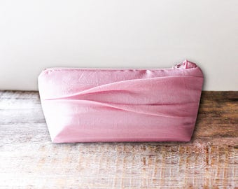 Flat Bottomed Pink Bridesmaid Clutch- 32 More Colors