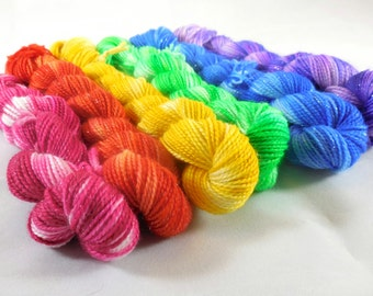 Frosted Rainbow mini-skein set by AnniePurl