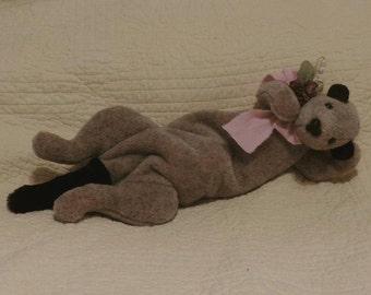 plush ferret,ferret lover,pet lover,toy ferret,handmade ferret,tan ferret,weasel,mustlid,