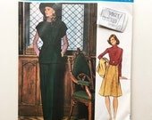 Vintage Galitzine Sewing Pattern 1970s Vogue Couturier Design With Label 1110 Tunic and A Line Skirt 34 Bust Size 12 Vintage 70s