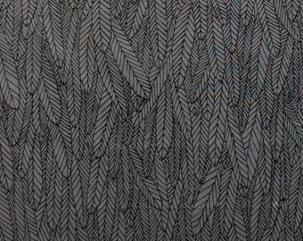 Alexander Henry FABRIC - Feather Forest - Smoke