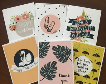 card pack of three, any occasion