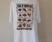 SALE Vintage  tee t shirt tshirt  90's     FRUITCAKE      clothing clothes     funny christmas gag gift present