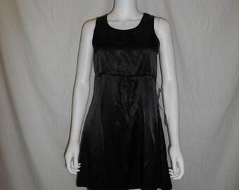 90s Black Minimalist Dress, Vintage 90s Short Dress, Size Small Dress