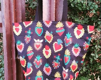 Large market bag hearts corazone