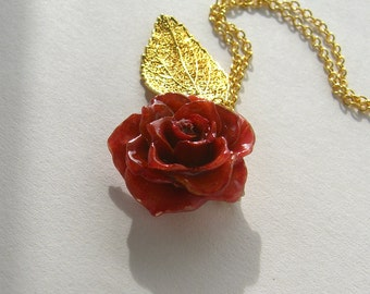 Real Rose Necklace - Love is a rose