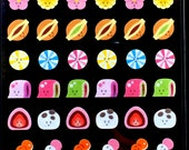 Japanese Sweets Stickers - Wagashi -  Japanese Washi Paper Stickers - Chiyogami Stickers - Traditional Japanese - Food Stickers  (S134)