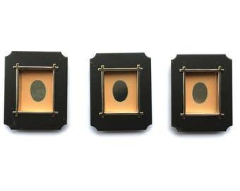 Japanese Door Pulls - Sliding Door Pulls - Pocket Door Pulls - Japanese Vintage Door Pulls Peach Black Gold Set of 3 Set DP4-3