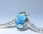 Luccicare Lampwork Bead - Pools -  Lined with Sterling Silver