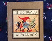 The Gnome's Almanack, by author/illustrator Ida Bohatta Morpurgo, Rare Vintage Hardcover Book, 1942