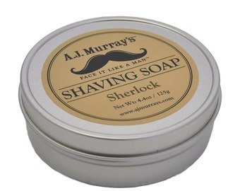 Shaving Soap, men's shaving products, vegan grooming products, men's grooming products, vegan shaving products, Sherlock Holmes