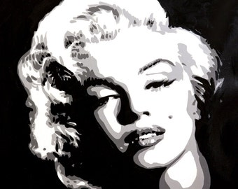 """Marilyn Monroe signed 18x18"""" canvas giclee"""