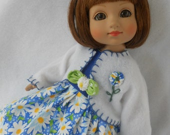"""CHOICE  Dress & Coat For Barbie AG 14"""" Doll Wellie Wishers YoSd Wiggs LittleFee P90 Toni Ginny Betsy McCall Ann Estelle Doll Clothes"""