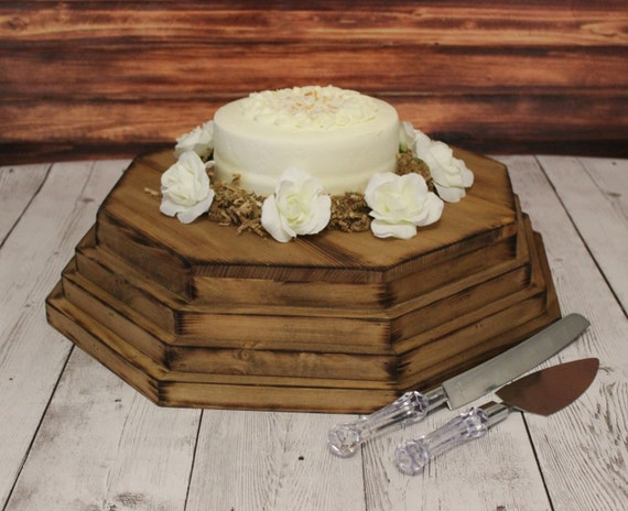 wooden wedding cake bases wooden cake stand large octagon riser wedding wood base 27600