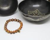 Pearl and sandalwood mala yoga bracelet