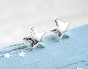 Silver Star Earrings, Star stud earrings, silver star post earrings, star earrings silver, graduation gift, graduation earrings, exam gift