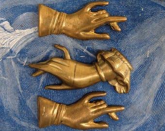Vintage Brass Stamping Hands 3