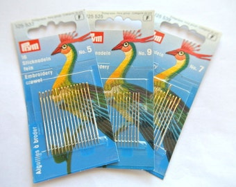 Set of 16 Needles for hand sewing by Prym-choose your size