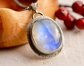 RESERVED-----<<<<<<<<<<<<<<<<<<Rainbow Moonstone Necklace, Moonstone Jewelry, Contemporary Jewelry, Art Jewelry