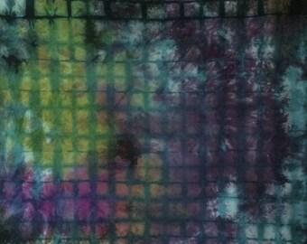 Hand Dyed Fabric - Agate - 1 yard -Modern Shibori cotton - 249