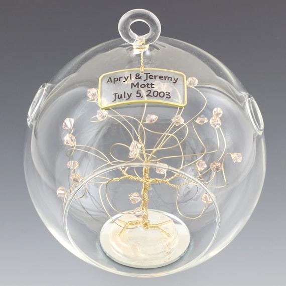 Personalized Wedding Gift Ornament Keepsake Swarovski by ...