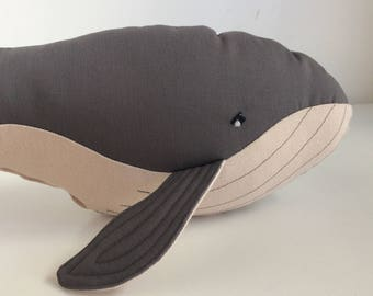 Whale Plush, Whale Pillow, Stuffed Toy, Stuffed Whale, Stuffed Animal, Softie Whale, Red Elk Toy, Imaginary Friend, Baby Shower Gift