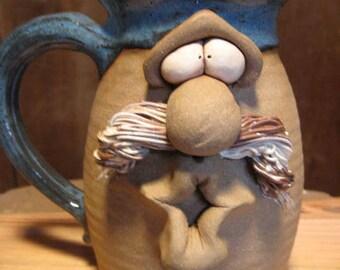 Kissie .. Kissie  ..  Gimme a Kissie  Mustacho Kissie Mug  ....................