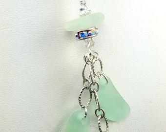 Sea Glass Necklace  Sea Glass Pendant Aqua Sea Glass Pendant Beach Glass Jewelry Beach Glass Necklace N-492