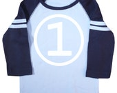 Boys First Birthday Long Sleeve Raglan Jersey T-Shirt