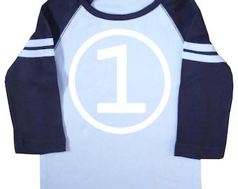 Boys First Birthday Long Sleeve Raglan Jersey T-Shirt