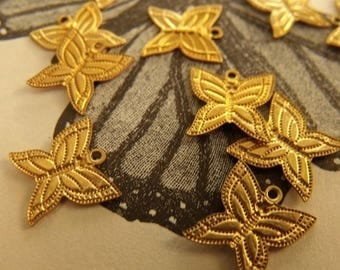 On Sale 25% Off Butterfly Tiny Brass Charms 12x9mm 12