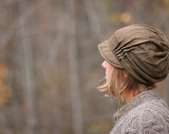 Slouch Hat - light weight Olive Brown