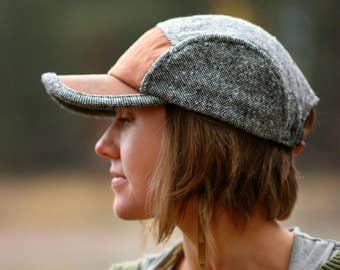 Field Hat | Wool and Waxed Canvas Hat | Unisex Wool Cap | Gifts for Him | Camp Hat | WHISKEY+TWEED