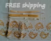 FREE Ship DIY Bra Kit FIRM Ivory & Corn Flowers  by Merckwaerdigh