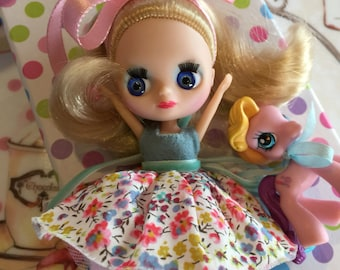 Lps Long Hair Blonde with Pink MLP Pony Pet.. Gift Boxed Set.. Valentine's Day!!..Ooak!!