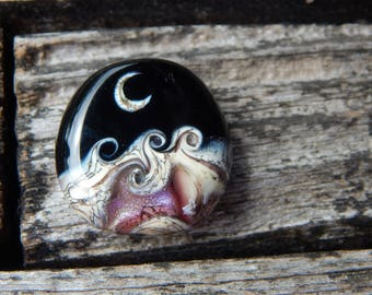 Amethyst Crystal Ocean, Glass Bead Simply Lampwork by Nancy Gant, SRA G55