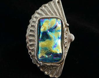I'm a real fan of yours - dichroic glass and fine silver pendant