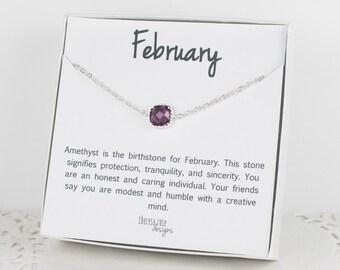 February Birthstone Silver Bracelet, Amethyst Bangle Bracelet, February Amethyst Bracelet, Silver Bracelet, February Birthstone Bracelet