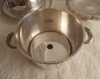 Silver plate Ice bucket Hotel Silver mini ice bucket Primrose Plate B M Mounts