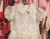 RESERVED FOR CANDY 1950s Sheer Dress Girls 8/10