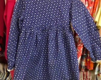 1960s Floral Dress Girls 4/5T
