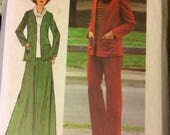 Vintage Sewing Pattern Simplicity 9210 Misses Jacket, Skirt, and Pants Size 16 1/2 Bust 39 inches Complete Uncut
